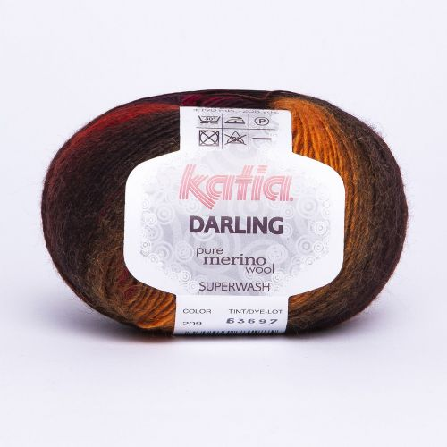 Katia Darling - Blend of autumnal browns, yellow, plum and red